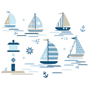 Ships Ahoy Wall Art Kit