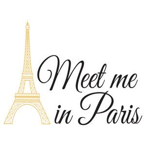 Multicolor Meet Me In Paris Wall Quote