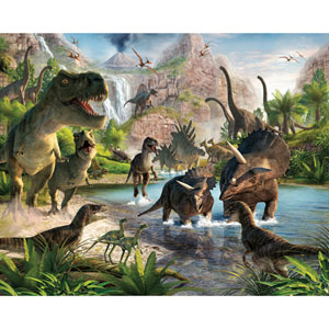 Dinosaur Land Wall Mural