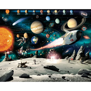 Space Adventure Wall Mural