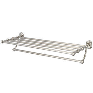 Glass Series Accessories Polished Nickel PVD 29-Inch Towel Rack Shelf