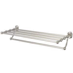 Glass Series Accessories Polished Nickel PVD 29-Inch Towel Rack Shelf
