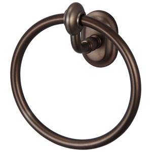 Glass Series Accessories Oil Rubbed Bronze with Protective Coating 6.5-Inch Towel Ring