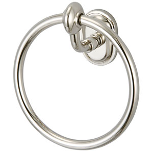 Glass Series Accessories Polished Nickel PVD 6.5-Inch Towel Ring