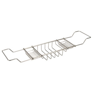 Useful Elegance Polished Nickel PVD Expandable Bath Shower Caddy