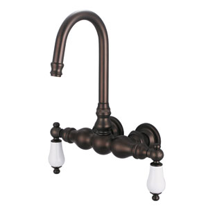 Vintage Classic Oil Rubbed Bronze with Protective Coating Porcelain Lever Handles Basin Faucet