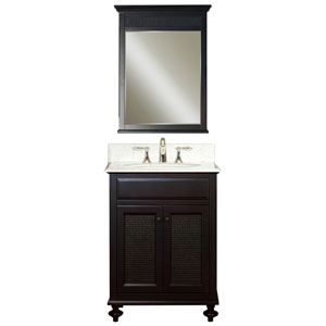 London Espresso Single Sink 24-Inch Bathroom Vanity Combo