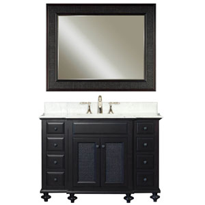 London Espresso Single Sink 48-Inch Bathroom Vanity Combo