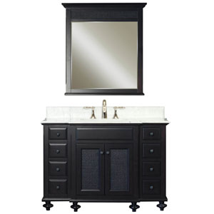 London Espresso Single Sink Bathroom Vanity Combo
