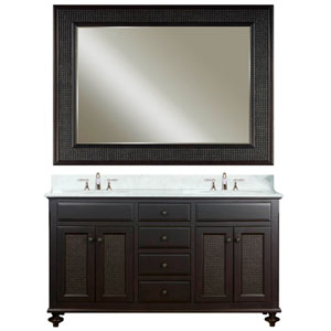 London Espresso Double Sink Bathroom Vanity Combo