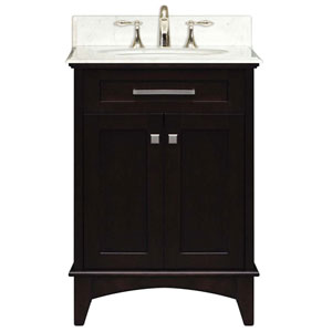 Manhattan Espresso  Single Sink 24-Inch Bathroom Vanity