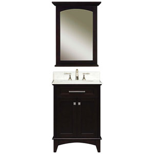 Manhattan Espresso  Single Sink 24-Inch Bathroom Vanity Combo