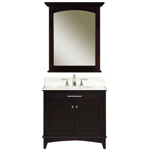 Manhattan Espresso  Single Sink 30-Inch Bathroom Vanity Combo