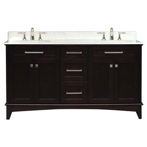 Manhattan Espresso  Double Sink 60-Inch Bathroom Vanity