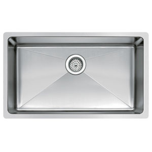 Stainless Steel Premium Brushed Satin 30- Inch Undermount Single Bowl Kitchen Sink