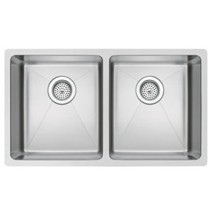 Stainless Steel Premium Brushed Satin 30- Inch Undermount Double 50/50 Basin Kitchen Sink
