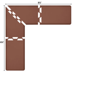 PuzzlePiece 2-Ft. L-Series Brown 6.5x6.5 Premium Anti-Fatigue Mat
