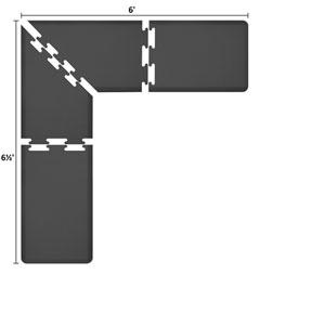 PuzzlePiece 2-Ft. L-Series Black 6.5x6 Premium Anti-Fatigue Mat