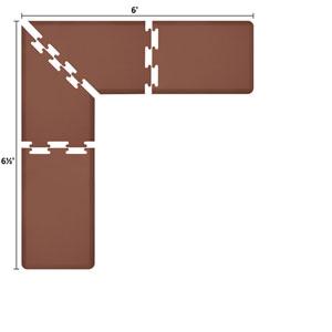 PuzzlePiece 2-Ft. L-Series Brown 6.5x6 Premium Anti-Fatigue Mat