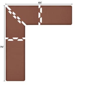 PuzzlePiece 2-Ft. L-Series Brown 7.5x6.5 Premium Anti-Fatigue Mat