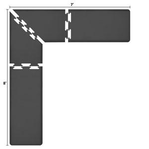 PuzzlePiece 2-Ft. L-Series Black 8x7 Premium Anti-Fatigue Mat
