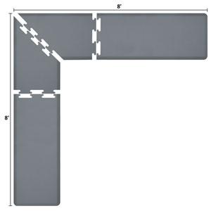 PuzzlePiece 2-Ft. L-Series Grey 8x8 Premium Anti-Fatigue Mat