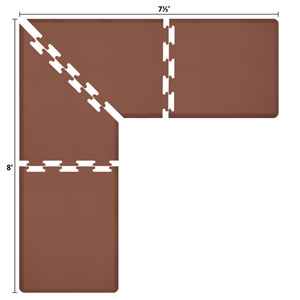 PuzzlePiece 3-Ft. L-Series Brown 8x7.5 Premium Anti-Fatigue Mat