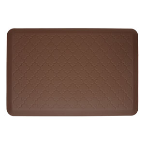 Motif Trellis Brown 3x2 Premium Anti-Fatigue Mat