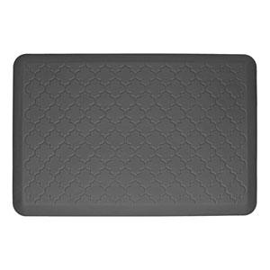Motif Trellis Grey 3x2 Premium Anti-Fatigue Mat