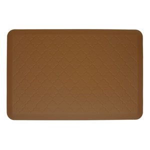 Motif Trellis Tan 3x2 Premium Anti-Fatigue Mat