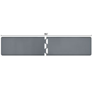 PuzzlePiece 2-Ft. R-Series Grey 9.5 Premium Anti-Fatigue Mat
