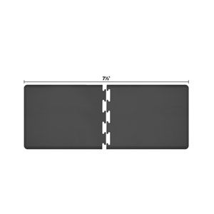 PuzzlePiece 3-Ft. R-Series Black 7.5 Premium Anti-Fatigue Mat