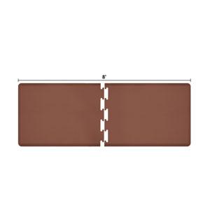PuzzlePiece 3-Ft. R-Series Brown 8 Premium Anti-Fatigue Mat