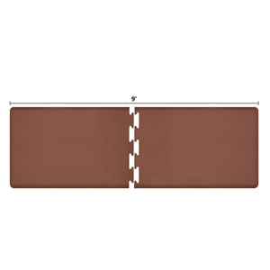 PuzzlePiece 3-Ft. R-Series Brown 9 Premium Anti-Fatigue Mat