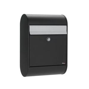 Allux Series 5000 Black Locking Mailbox with Gray Flap