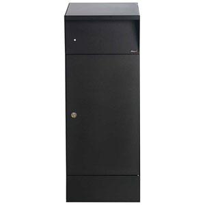 Allux Series Black Bjorn Freestanding Locking Parcel Box