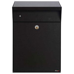 Allux Series Black Bjorn Wall Mounted Locking Parcel Box