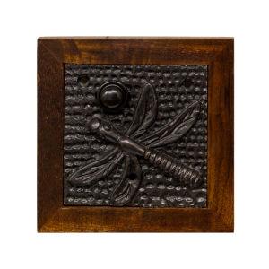Dragon Fly Dark Bronze Doorbell Button Cover