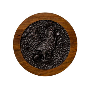 Rooster Dark Bronze Doorbell Button Cover