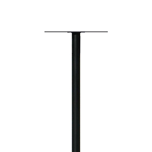 Hanford Black 60-Inch Twin Mounting Plate Mailbox Post