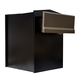 Letta safe Bronze 11-Inch Wall or Column Mount Mailbox with Drop Chute and Letterplate