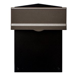 Letta safe Bronze Wall or Column Mount Mailbox with Drop Chute and Letterplate