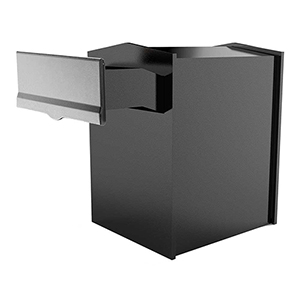 Letta safe Silver Wall or Column Mount Mailbox with Drop Chute and Letterplate