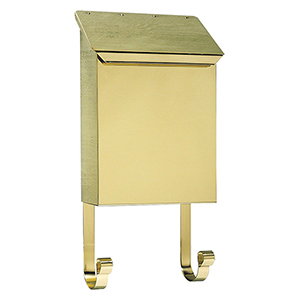 Provincial Polished Brass 8-Inch Wall Mount Mailbox