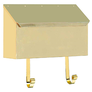 Provincial Polished Brass 14-Inch Wall Mount Mailbox