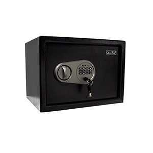 Black 13-Inch Personal Safe with Keys