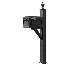 Westhaven Black 56-Inch Mounted Mailbox Post