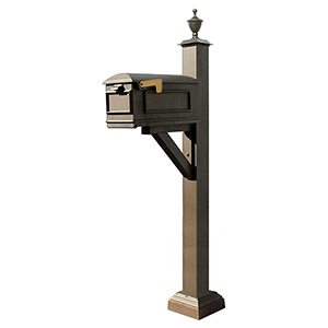 Westhaven Bronze Mounted Mailbox Post