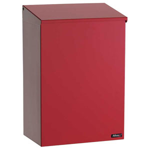 Allux 100 Red Top Loading Wall Mount Mailbox