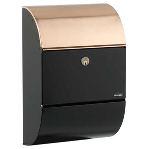 Allux Series Black with Copper Mailboxes Allux 3000